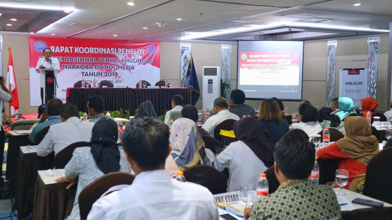 Rapat Koordinasi Peneliti Survei Nasional Penyalahgunaan Narkoba di Indonesia Tahun 2019