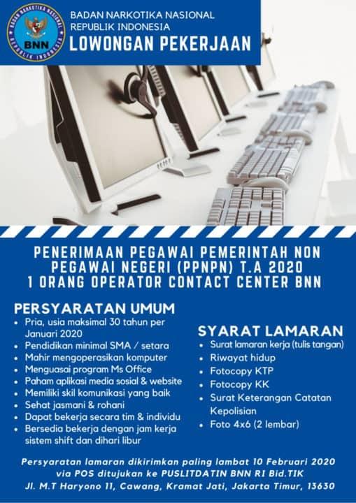 Lowongan Operator Contact Center 2020